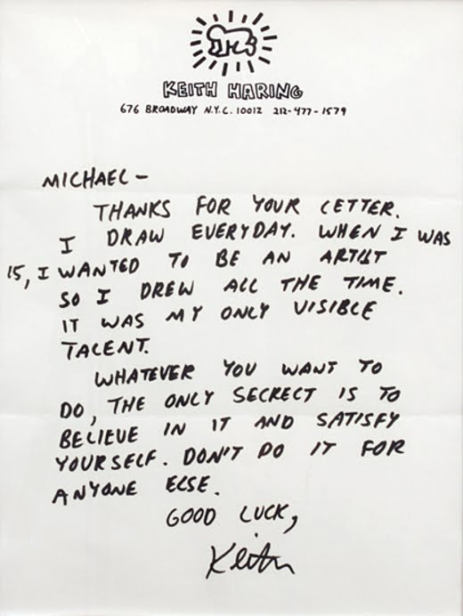 A Letter From Keith Haring to Basquiat